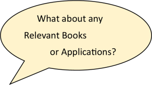 01 Relevant books or applications