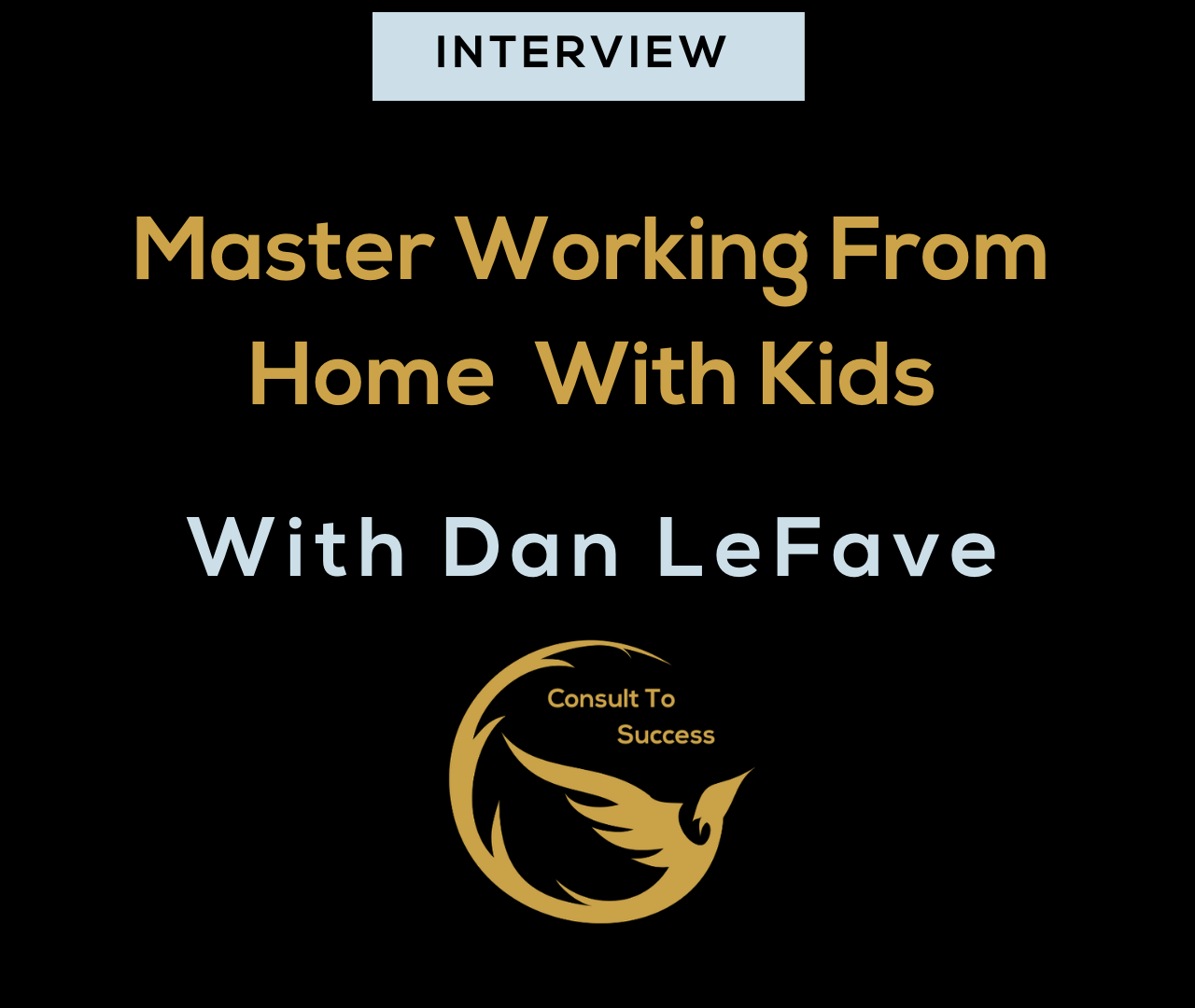 master working from home with kids